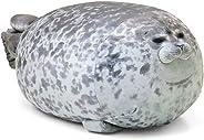 Creatsnow Chubby Cute Blob Seal Pillow Stuffed Cotton Plush Animal Toy Cute Ocean Soft Pillow Pets Plush Toy