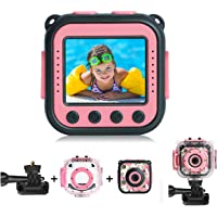 [Upgraded] PROGRACE Kids Waterproof Camera Action Video Digital Camera for Kids 1080 HD Children Toddler Camera for…