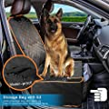 Dog Front Seat Cover, Waterproof Scratchproof Dog Seat Cover with Storage Bag Extra Wide Side Flaps, Nonslip Quilted Durable Pad for Cars Trucks and SUVs from Sivton