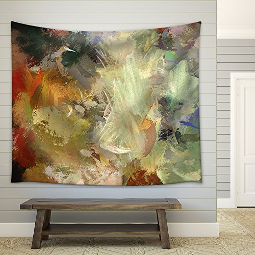 Art Abstract Acrylic Background with Colorful Blots Fabric Wall Tapestry