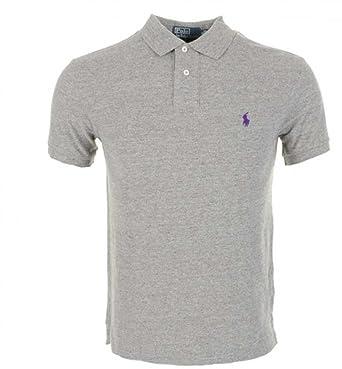 Ralph Lauren Men\u0027s Polo Interlock T-Shirt Classic Fit (Large, Heather Grey)