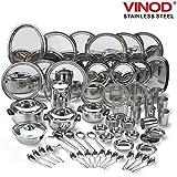 Vinod Steel 85 Pcs Dinner Set