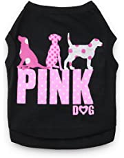 DroolingDog Pink Dog Clothes Cute Puppy Shirts Summer XS Dogs Tshirt, XS