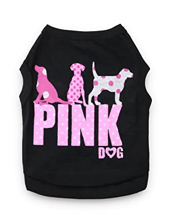 10afb9cacf44 DroolingDog Pet Dog Shirts Pink Dog Clothes Puppy Tshirt for Small Dogs  Girl, Small,