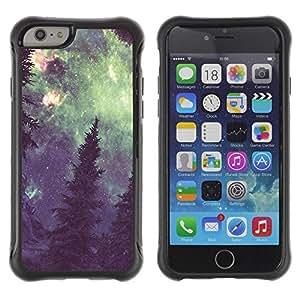 """Pulsar iFace Series Tpu silicona Carcasa Funda Case para Apple iPhone 6+ Plus(5.5 inches) , Vía Láctea Bosque Pintura Verde"""""""