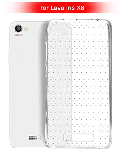 wholesale dealer 74194 478ef ECellStreet Silicone Soft Back Cover for Lava Iris X8 (Transparent)