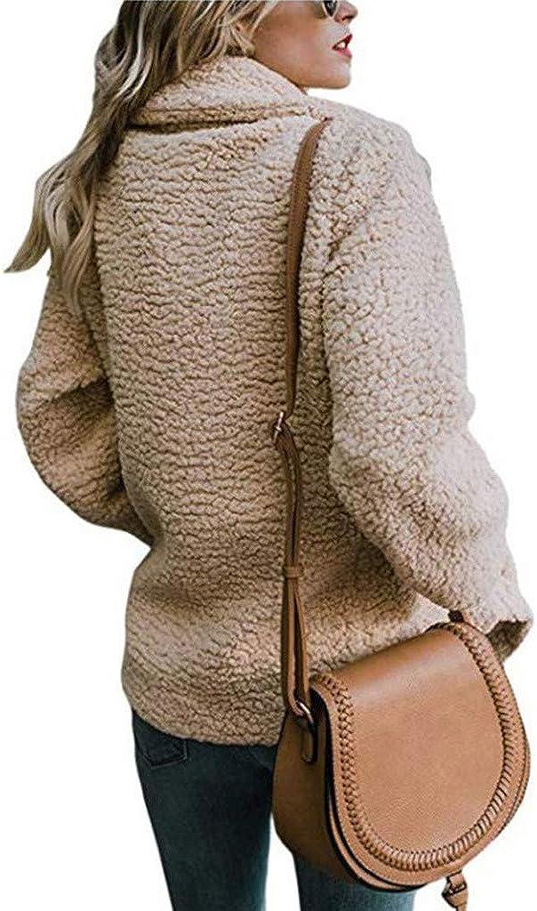 Donna Felpa con Cappuccio Maglione Cappotto Inverno Caldo Lana Cerniera Cappotto Outwear Pile Pelliccia Inverno Manica Lunga Cappotto Parka VICGREY ❤Giacca Donna Elegante