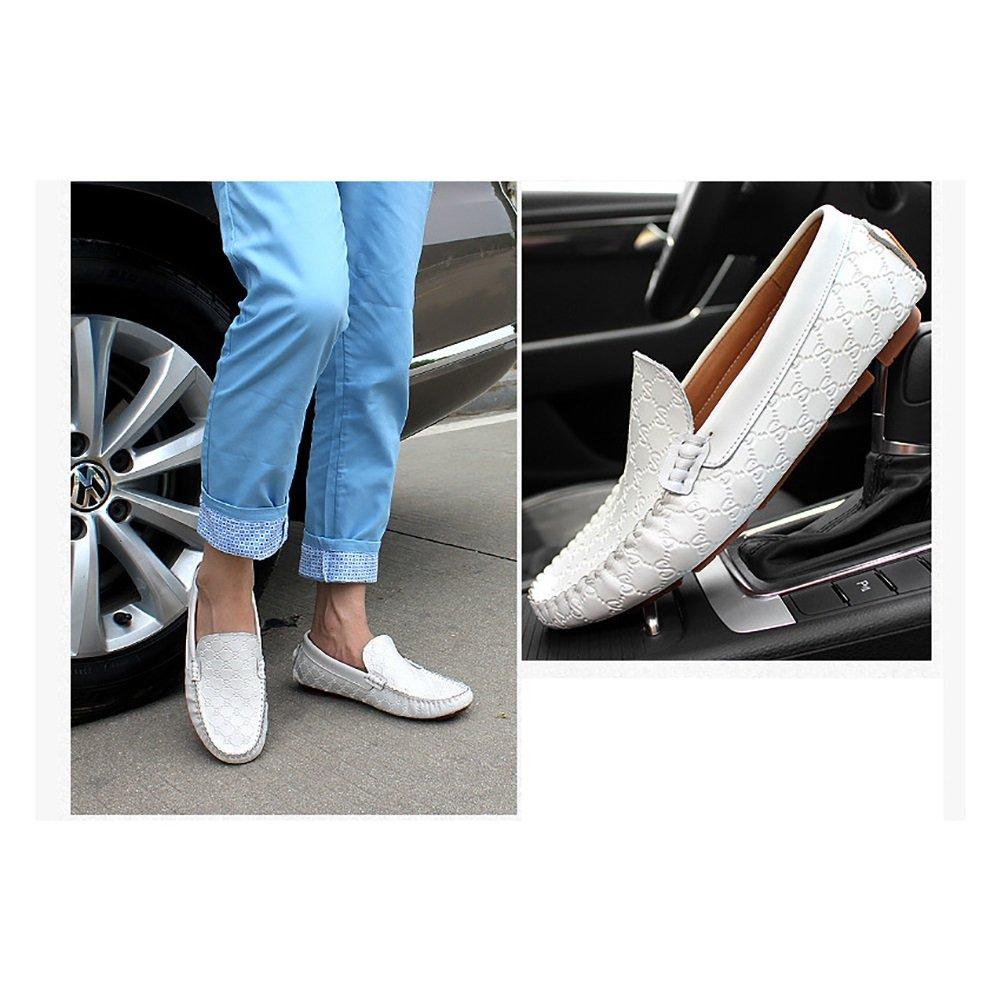 Xue Herren Lederschuh Loafers & Slip-Ons Schuh Laufschuhe Lazy Schuh Slip-Ons Lässige Atmungsaktive Comfort Abgerundete ToeOffice Walking Schuhe Wild schwarz, Weiß 0ed710