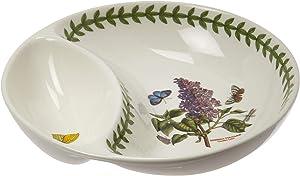 """Portmeirion Botanic Garden Divided Dish, 6"""", 6"""", White"""