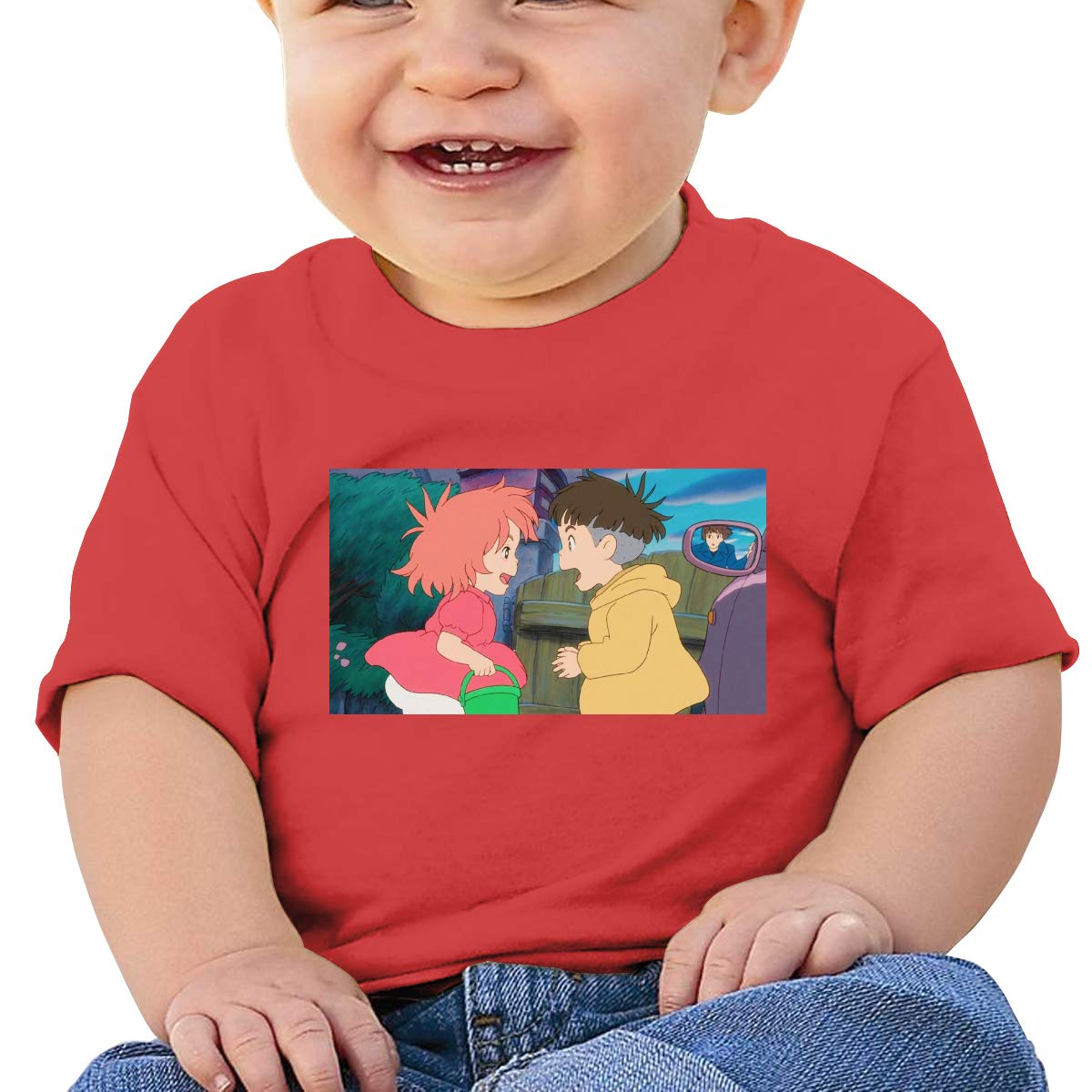 EVE JOHN Ponyo Picture Tee Summer T-Shirts for Baby Boy and Baby Girl Black