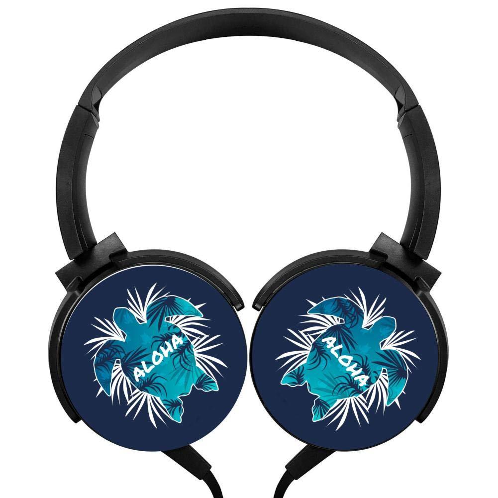 日本人気超絶の Aloha ハワイ タートルヘッドフォン 3D Aloha プリント オーバーイヤー 軽量 ヘッドフォン B07H2BGX1J 子供用 3D メンズ レディース B07H2BGX1J, 結婚式プチギフト店 まんぞく屋:62c2c261 --- nicolasalvioli.com