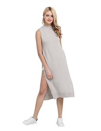 616e3e94f2b Richlulu Womens High Side Slit Cross Criss Overall Tank Sweater Dress at  Amazon Women s Clothing store