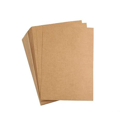 Amazon.com: liwute papel Kraft Natural reciclado tarjeta A4 ...