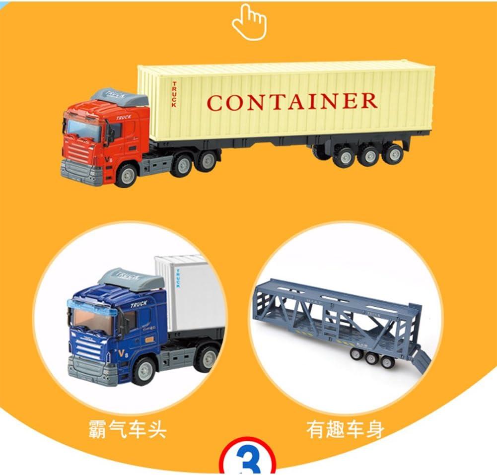 Faironly /à inertie Conteneur Remorque Camion Toys 1 64/en Alliage /à Nourriture Mod/èle de Voiture Pull Back Voiture Jouet pour Collection Cadeau