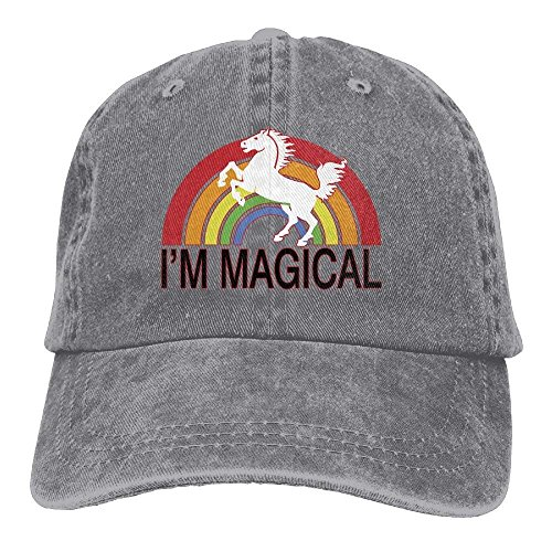 Adjustable longkouishilong Denim Magical Baseball Or Hat béisbol Unicorn Jeanet Dad Men's Rainbow Gorras Women's I'm Hat qqOBSg