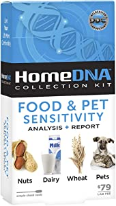 HomeDNA Food & Pet Sensitivity at-Home DNA Test Kit   Lab Fees NOT Included   Kit ONLY