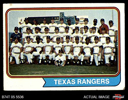 Rangers Cards Topps Baseball Texas (1974 Topps # 184 Rangers Team Texas Rangers (Baseball Card) Dean's Cards 3 - VG Rangers)