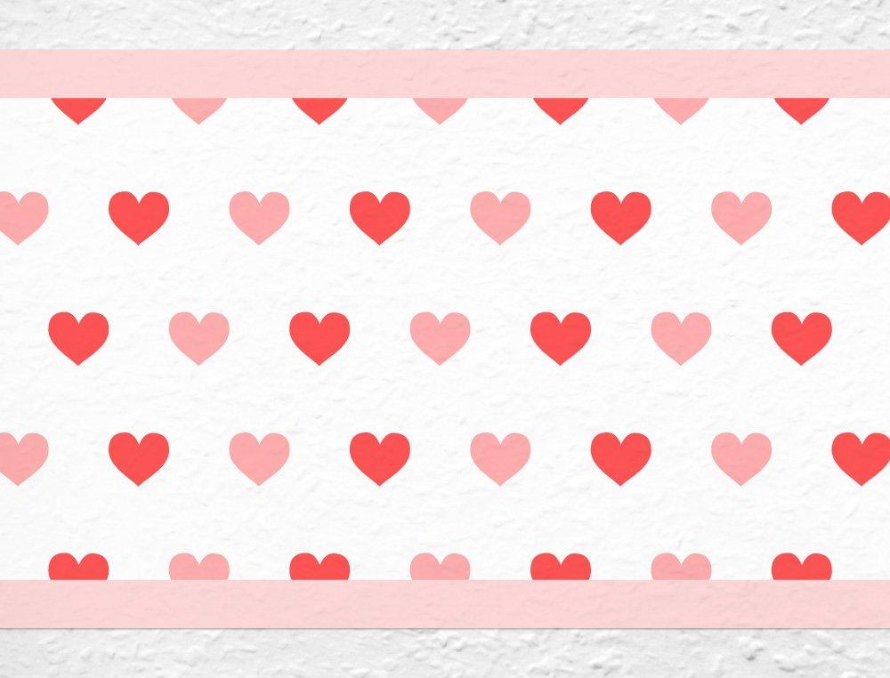 I-love-Wandtattoo Bordo Autoadesivo Cuore per la Cucina Il Soggiorno la Camera dei Bambini