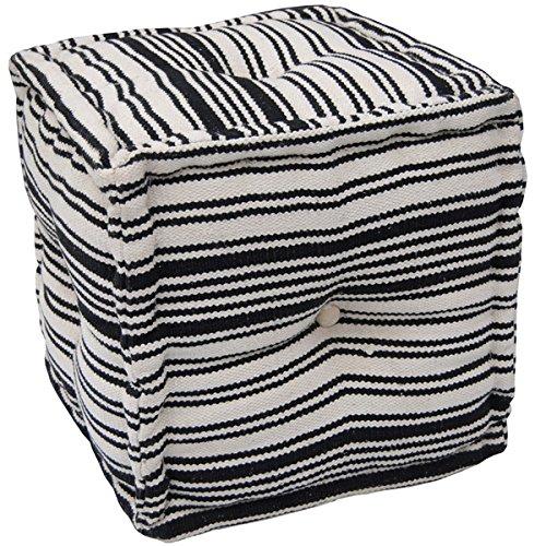 Herat Oriental Indo Handmade Striped Cotton Puff