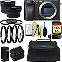 Sony Alpha a6300 Mirrorless Digital Camera (Body Only) + Pixi-Advanced Accessory Bundle - International Version Noticeable Review Image