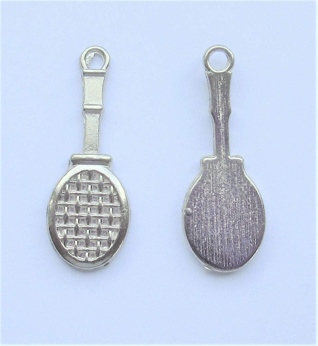 10 x Tibetan Silver TENNIS RACKET WIMBLEDON 29mm Charms Pendants Beads