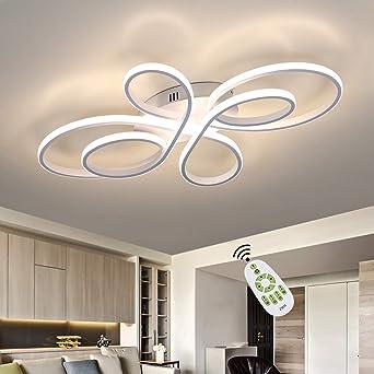 ZMH LED Deckenleuchte Wohnzimmer Moderne LED Deckenlampe Dimmbar mit  Fernbedienung 10 Watt Kreative Wohnzimmer Lampe aus Metall in