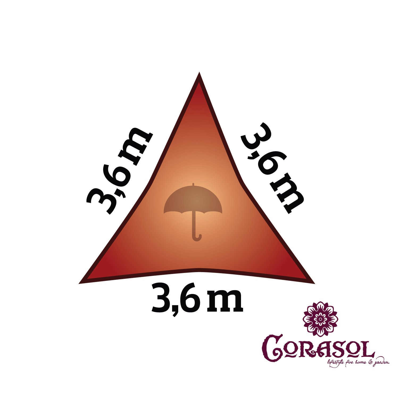 Corasol COR11RE6X4-CW COR11RE6X4-CW COR11RE6X4-CW Premium Sonnensegel 6 x 4 m, rechteckig, wasserabweisend, cremeweiß 7c761d