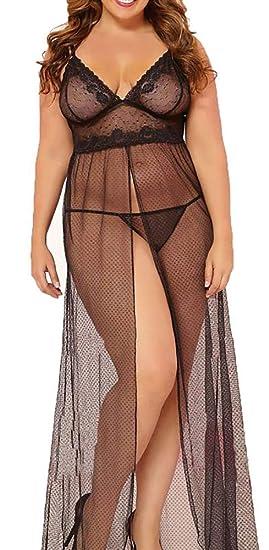 Amazon.com  made2envy Exquisite Sheer Mesh Gown (L 8ba6dc2a3