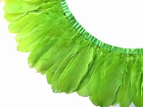 Plumas de ganso, color verde lima nagoire de ganso y plumas ...