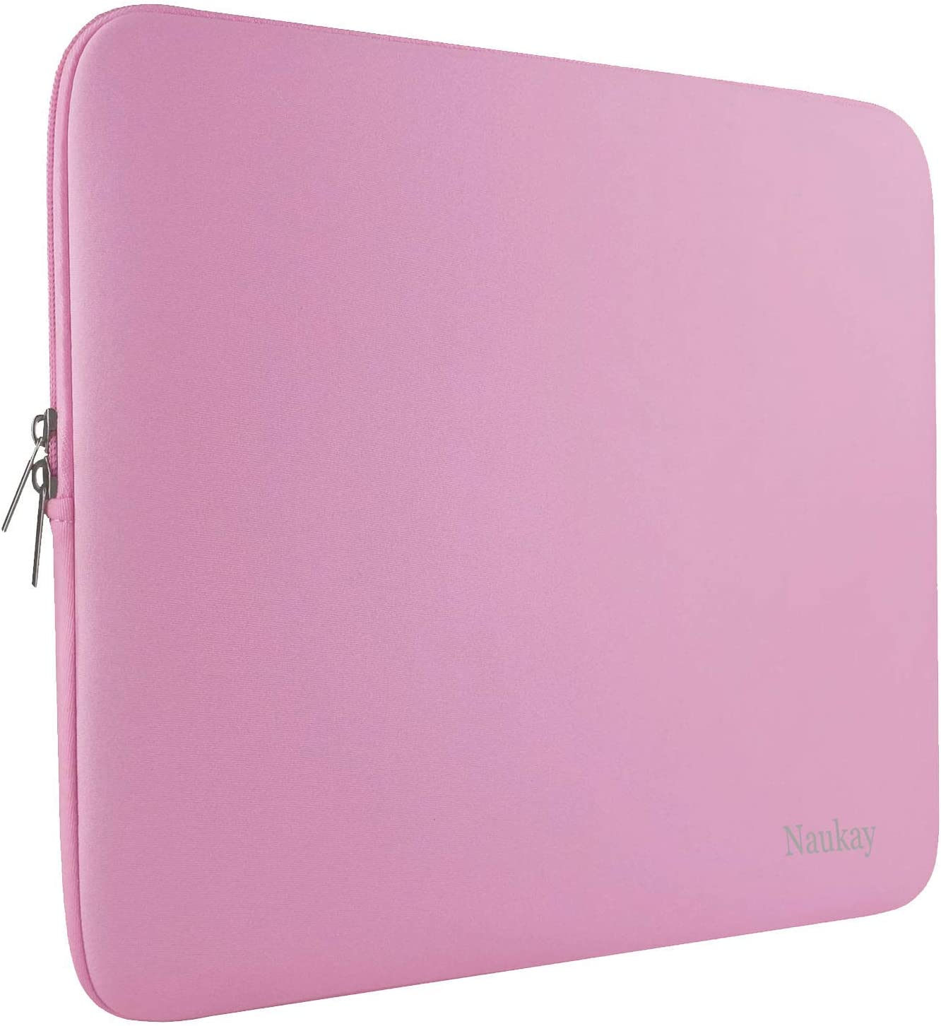 Naukay 15.6 Inch Laptop Sleeve,Resistant Neoprene Laptop Sleeve/Notebook Computer Pocket Case/Tablet Briefcase Carrying Bag - (Pink)