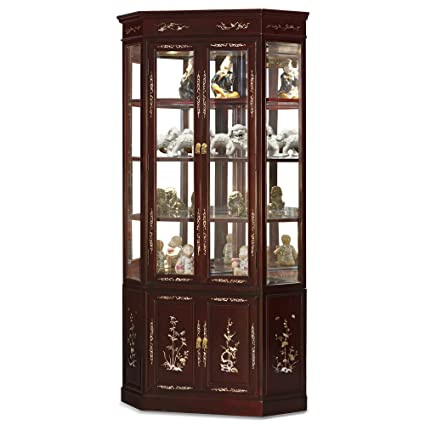 Delicieux China Furniture Online Rosewood China Cabinet, 27 Inches Bird And Flower  Mother Pearl Inlay Corner