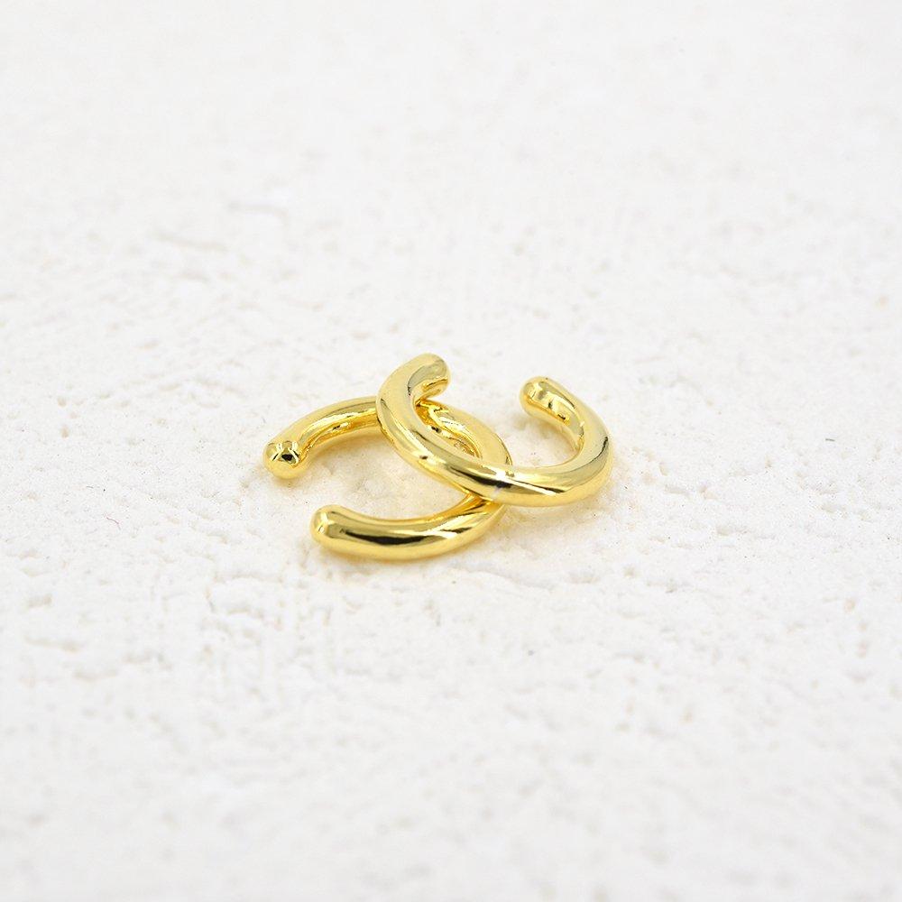 Sterling Silver 18K Gold Plated Sleek Cuff No Piercing Required Lemon Grass B07DF8HW53/_US