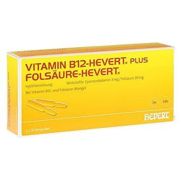 Vitamin B12 Folsäure Hevert Ampullen Paare 10x2 Ml Amazonde