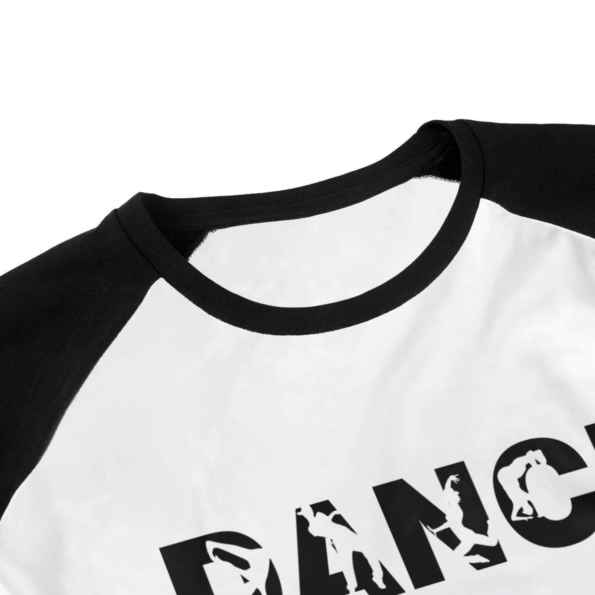 WJGNAA Dance Life-01 Youths O Neck 3//4 Raglan Sleeve Baseball T Shirt Teenage T-Shirt for Boys Girls