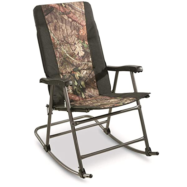 Guide Gear Oversized Rocking Camp Chair, 500 lb. Capacity, Mossy Oak Break Up Country