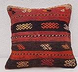 """Oriental Woven Kilim Pillow Bohemian Cushion Cover Old Pillows Sofa Art 18 x 18"""""""