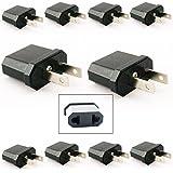 10 Travel Europe to USA Power Plug Adapter Adaptor Convert Convertor Eu To Us