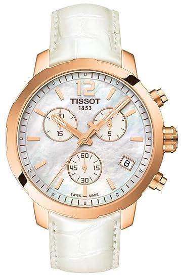 Tissot Reloj Cronógrafo para Mujer de Cuarzo con Correa en Cuero T095.417.36.117.00: Amazon.es: Relojes
