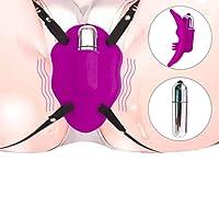 Klitoris-Stimulator in Form eines Schmetterlings mit Stretchbändern,Silikon Tragbarer Stimulator