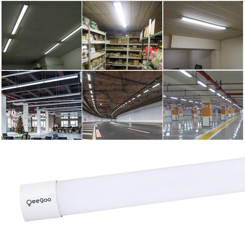 Ufficio Cantina Magazzino Corridoio 30W 120CM Plafoniera Barra LED Supermercato 4000K Impermeabile IP66 3800LM Tubo LED Luci Lampada per Garage Oeegoo Plafoniera LED da Officina Supermercato