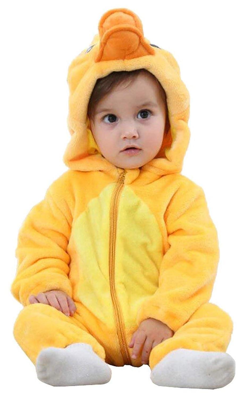TMEOG para ni/ño Pato Amarillo 6-12 Meses Pijama de una Pieza