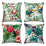 Best Cotton Pillow With Flamingos - Home Decorative Throw Pillow Covers U-LOVE Flamingo Pattern&Tropical Review