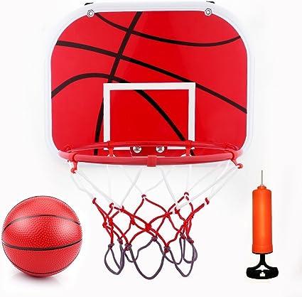 Amazon Com Vgeby Mini Basketball Hoop Set Wall Mount Basketball Hoop Basketball Door Hoop Hanging Basketball Board With Ball And Pump Sports Outdoors