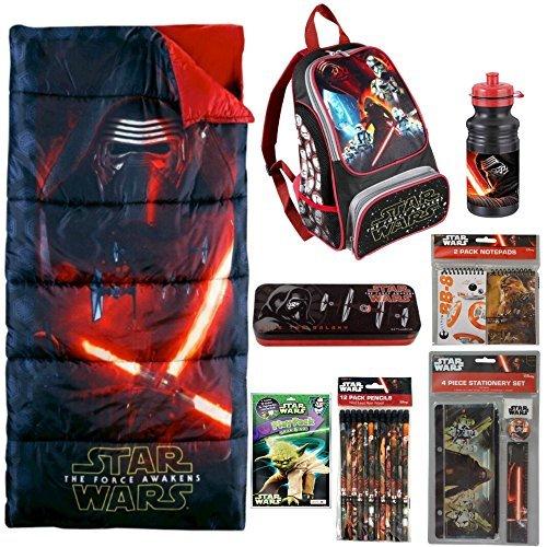 Star Wars The Force Awakens Sleeping Bag, Backpack, Water Bottle, Stationery 23pc Set