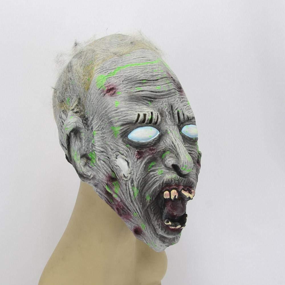 Littlefairy Halloween mask,Halloween Party Black Eyed Eyed Eyed Zombie Latex face mask e77dd2
