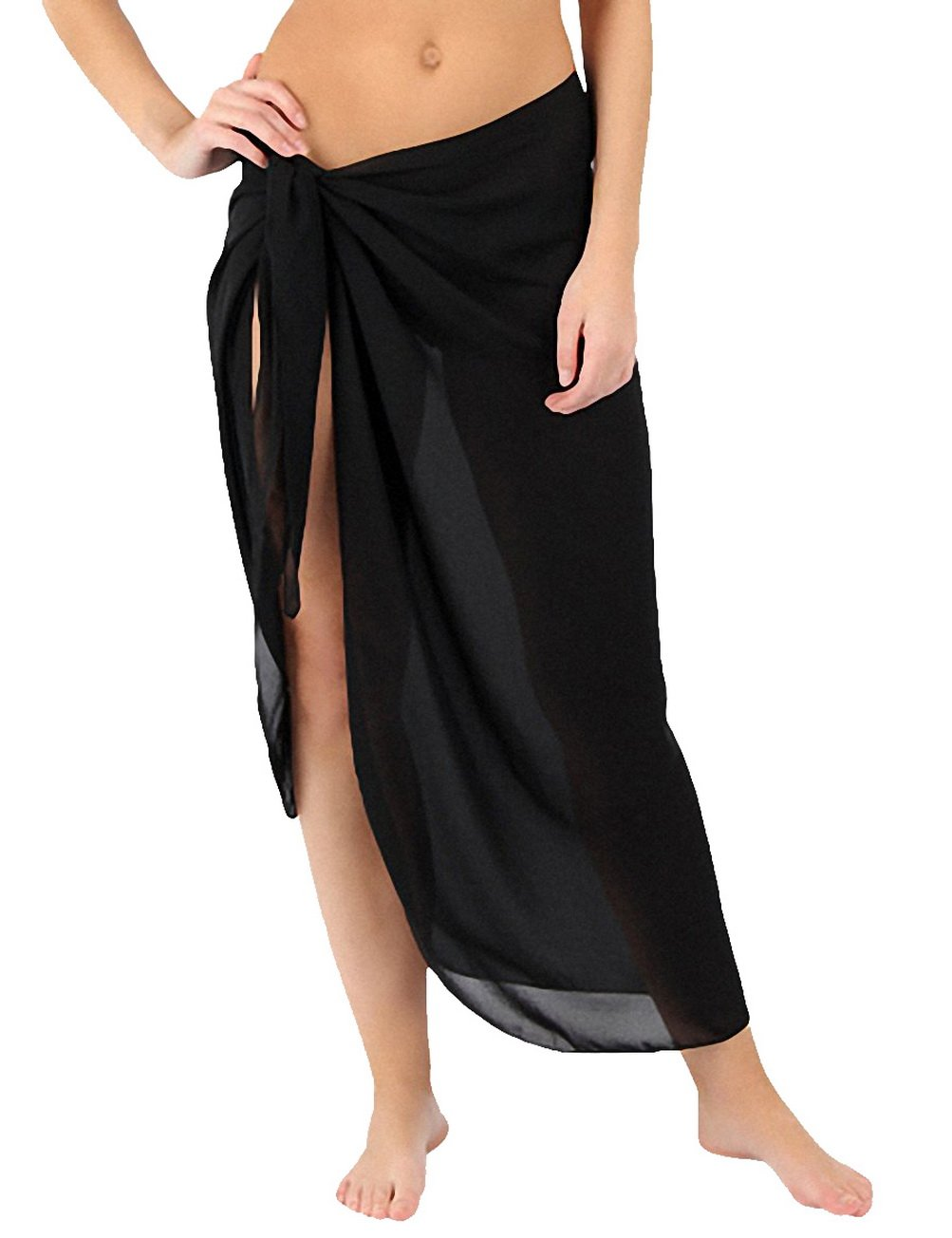 64ecd1a76e4d8 ChinFun Women's Soft Wrap Beach Swimwear Short/Knee Length/Long Cover Up  Pareo Swimsuit