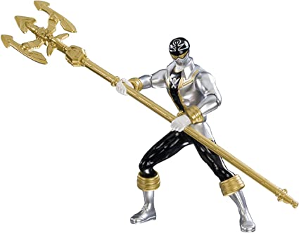 amazon com power rangers super megaforce 6 5 double battle action silver ranger action figure toys games power rangers super megaforce 6 5 double battle action silver ranger action figure