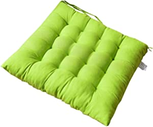 ZHANGW Square Chair Cushions for Dining Chairs, Comfortable Chair Pads Garden Seat Cushions with Ties Seat Pads for Dining Chairs Kitchen,Apple Green