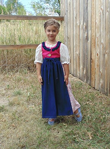 Girls 4-5 Folk Dress complete costume by Fru Fru and Feathers Costumes & Gifts