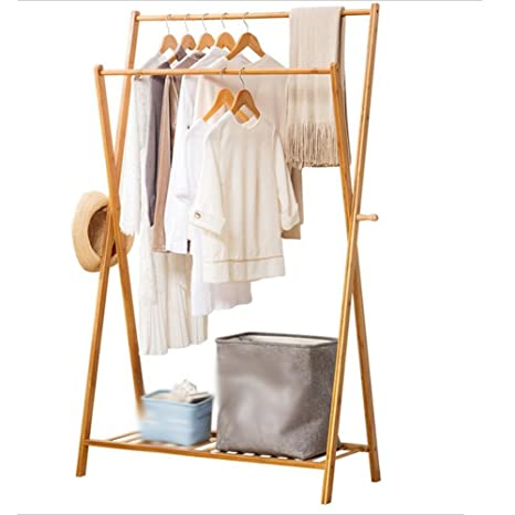 Amazon.com: Floor Standing Hat and Coat Coat Rack Clothes ...